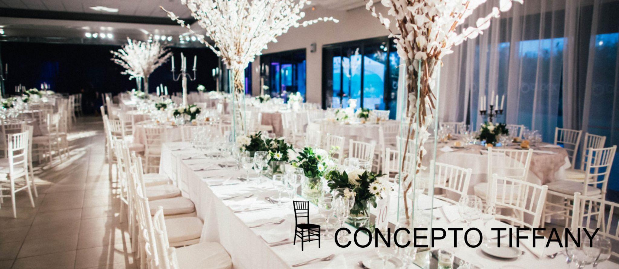 boda con sillas tiffany blancas